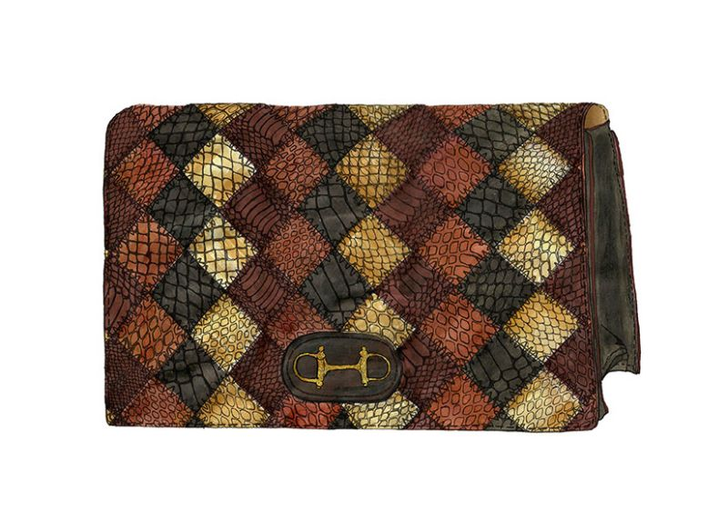Emma Walker Studio Snakeskin Clutch